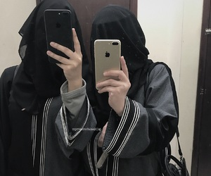 hijab, iphone, and islam image