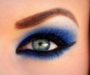 blue, eyes, and make up image