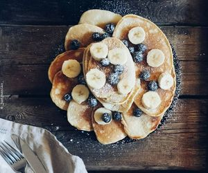 banana, blueberry, and cooking image