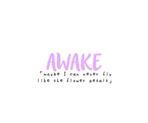 awake, Lyrics, and music image