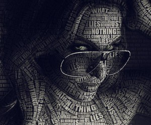 art, illustration, and typography image