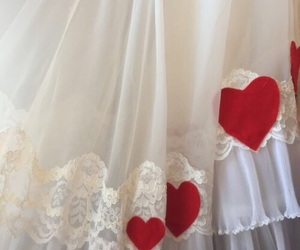 aesthetic, heart, and lace image