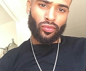 beard, black, and curly image