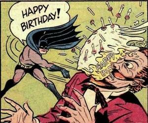 batman, cumpleaños, and guason image