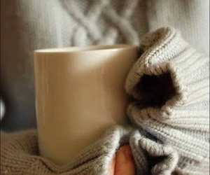 coffee, sweaters, and warmth image