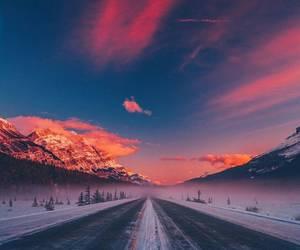 sky, beautiful, and snow image