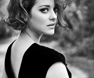 Marion Cotillard, black and white, and beautiful image
