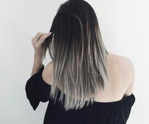 hair, black, and grey image