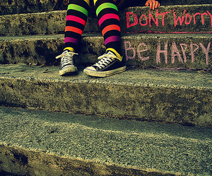happy, be happy, and shoes image