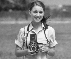 natalie portman and vintage image