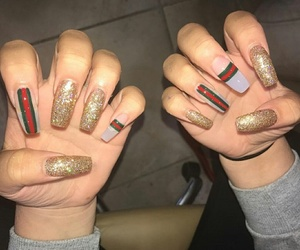 nails, gucci, and fashion image