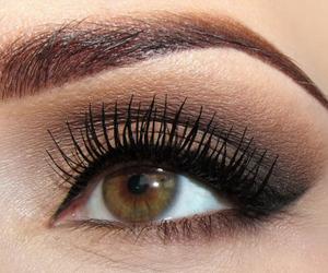 girl, make up, and eye image