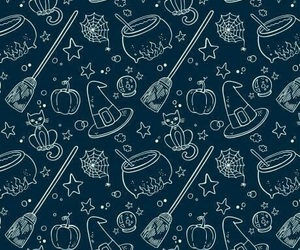 witch, Halloween, and pattern image