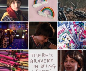 moodboard, stranger things, and will byers image