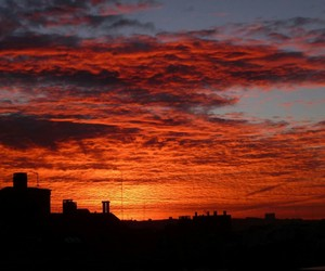 atardecer, ciudad, and photography image