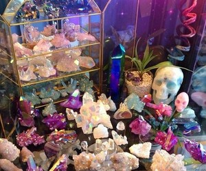 crystal, witch, and purple image