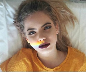 blonde, girl, and makeup image