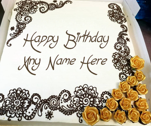birthday wishes, name on cake, and birthday cake with name image