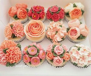 cup cakes, dessert, and sweets image
