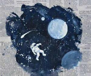 art, space, and moon image