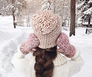 winter, snow, and fashion image