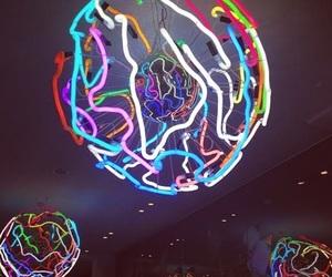 ball, colorful, and lights image