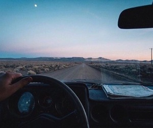 travel, car, and sky image