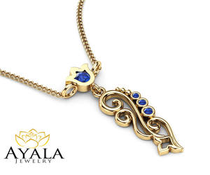etsy, goldnecklace, and gold necklace image