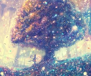 anime and tree image