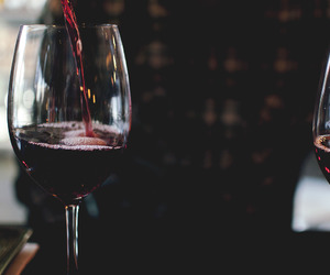red wine, wine, and drink image