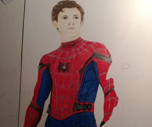 peterparker, red, and tomholland image