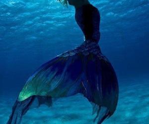 mermaid, sea, and ocean image