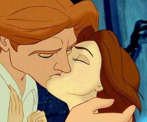 disney, belle, and kiss image