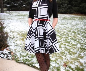 dress, modcloth, and polka dots image