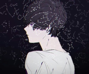 anime, constellation, and boy image