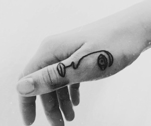 girl, hand, and ink image