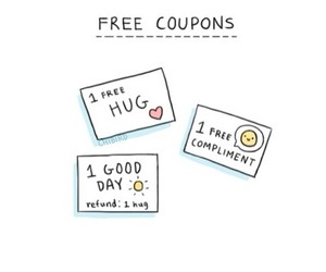 coupons, hug, and free image