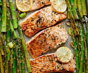 food, delicious, and fish image