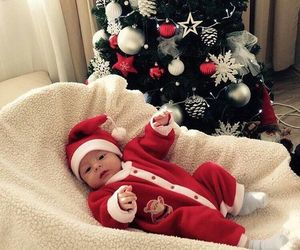 baby and christmas image