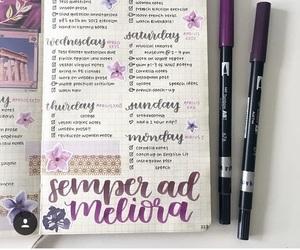 agenda, handwriting, and pretty image