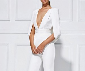 clothes, glamorous, and white jumpsuit image