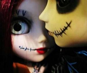 nightmare before christmas and jack and sally dolls image