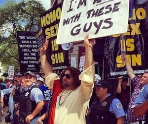 jesus, funny, and protest image