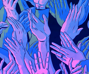 hands and wallpaper image