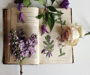 book and flower image