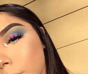artist, beauty, and eyeshadow image