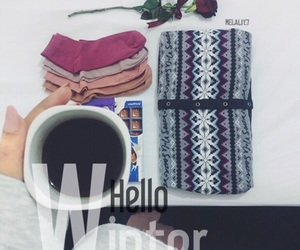 clothes, cold, and coffee image