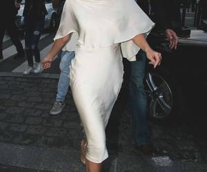 selena gomez, dress, and white image