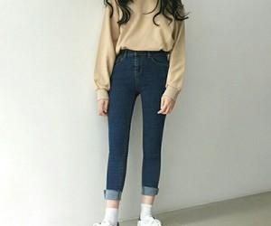 aesthetics, asian girl, and body image