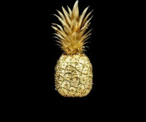pineapple, fruit, and gold image